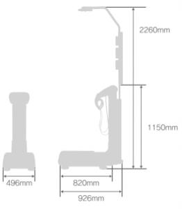 Les dimensions de l'impédancemètre ACCUNIQ BC720